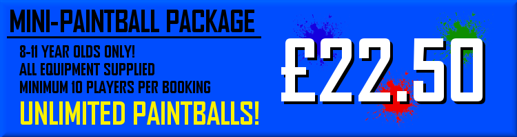 Mini-Paintball Package - £22.50