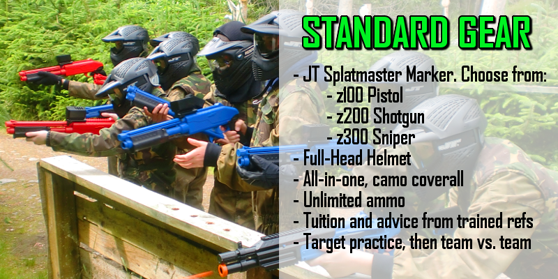 Mini-Paintball Standard Gear